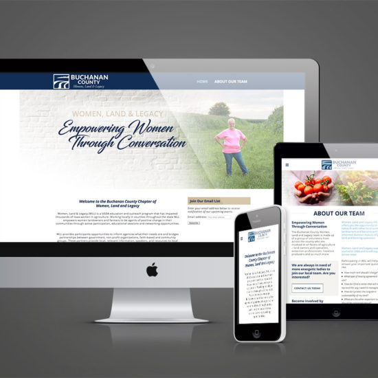 Buchanan Co. Women, Land & Legacy Responsive Website